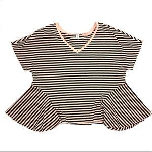 BP. Women's Striped Wavy Blouse